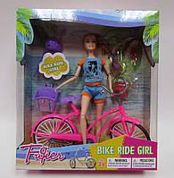 """Кукла типа """"Барби""""2 вид,с велосип,шлем,в кор.29*8,5*33см /24-2/(JX100-67B (1574387))"""
