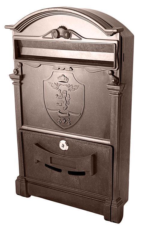 Почтовый ящик Vita цвет коричневый Герб Лев