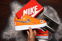 Кроссовки Nike Air Force 1 Low 'Just Do It' Yellow/White, фото 1