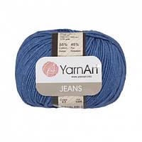 Хлопковая пряжа YarnArt Jeans 17 темный джинс (ЯрнАрт Джинс)