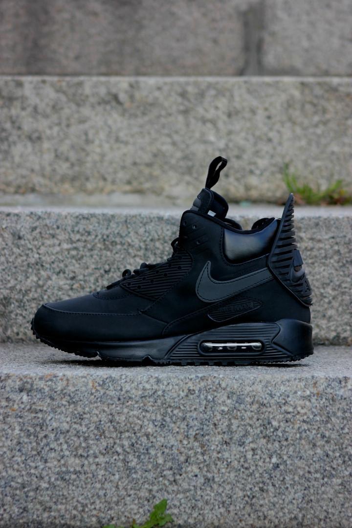 Кроссовки мужские зимние Nike Air Max 90 Sneakerboot Black. ТОП КАЧЕСТВО!!! Реплика  класса люкс (ААА+) ec17a8845b0