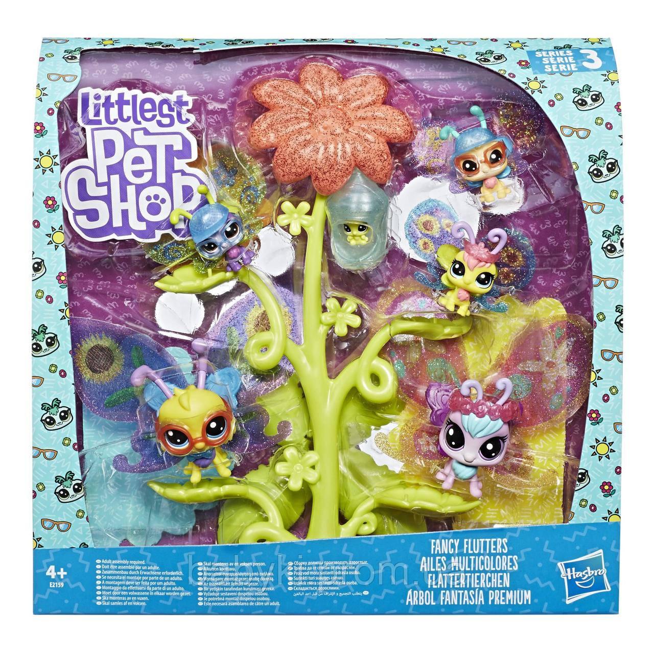 ЛПС Набор порхающих премиум петов Littlest Pet Shop, Hasbro, E2159