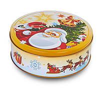 """Подарочная новогодняя упаковка из жести """"Дед Мороз"""" 19*6,6см(Ж1902)"""