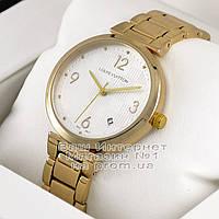 Женские наручные часы Louis Vuitton Quartz Gold White Луи Виттон качественная люкс реплика