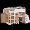 Кровать-чердак 2 двухярусная сонома + белый Эверест
