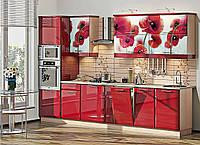 """Кухня """"Хай-тек с цветной печатью"""" KX-486"""