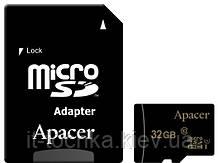 Карта памяти apacer microsdhc 32 Гб uhs-i u1 класс 10 с адаптером (ap32gmcsh10u1-r)