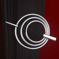 Заколка для штор нитей Круг №4 Серебро матовый
