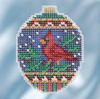 Набор для вышивки Crimson Cardinal Багровый кардинал Mill Hill