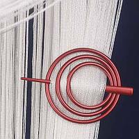 Заколка для штор нитей Круг №11 Красный