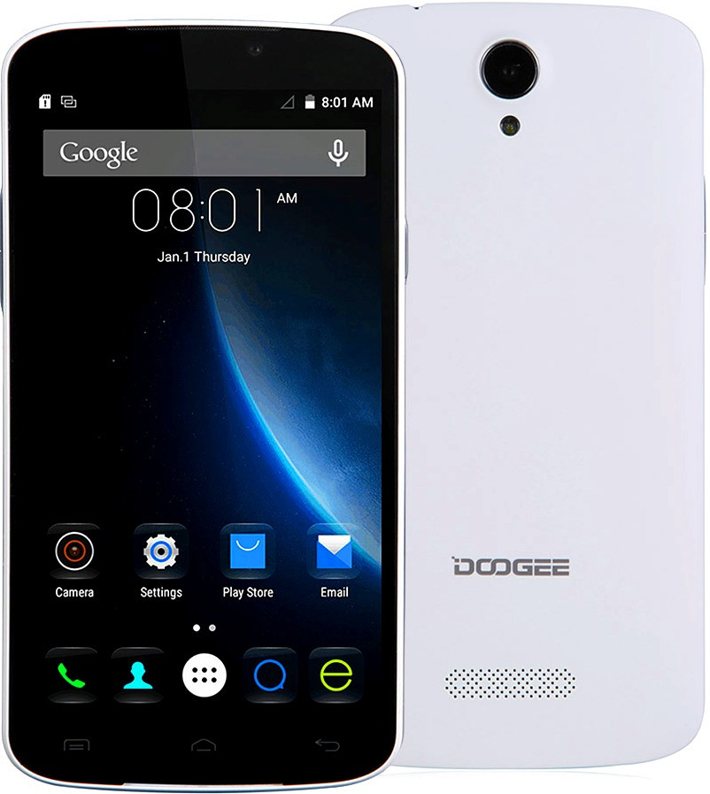 Смартфон Doogee X6 1/8Gb White Камера 8/5 Мп