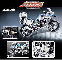 Конструктор Decool 3369 A Technic Мотоцикл легенда BMW R1200 GS 603 деталей, фото 1
