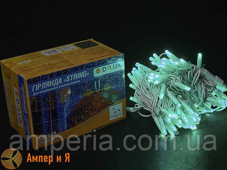 Гирлянда внешняя STRING 100 LED 10m (2x5m) 20 flash зелёный/белый IP44 EN DELUX, фото 2