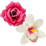 Букет искусственных роз и орхидей Шик, 55см, фото 2