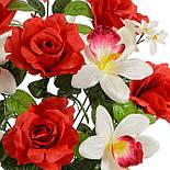 Букет искусственных роз и орхидей Шик, 55см, фото 3