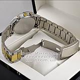 Мужские наручные часы Emporio Armani Quartz Silver Gold White Эмпорио Армани качественная люкс реплика, фото 4