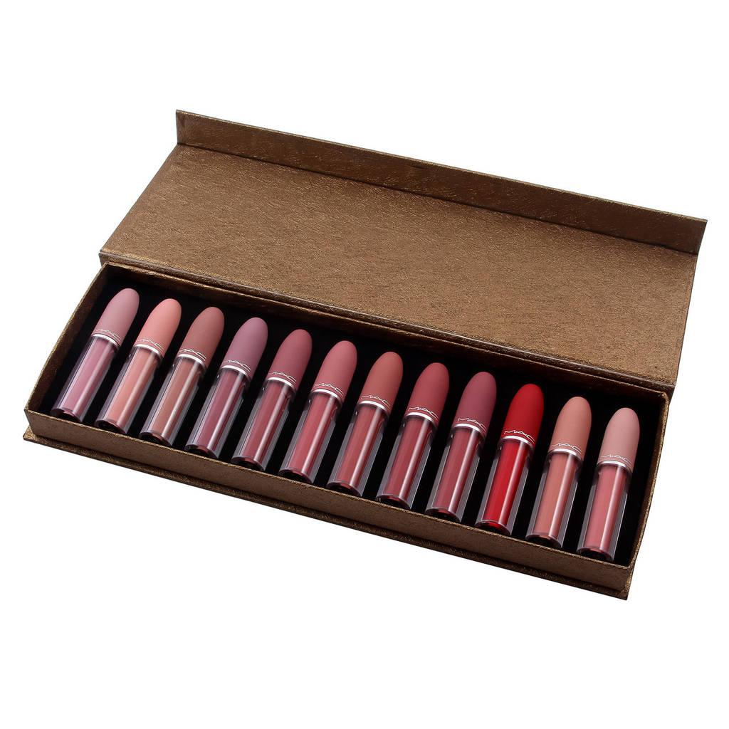 Жидкая помада MAC Matte Lipstick Rouge (золотая упаковка)