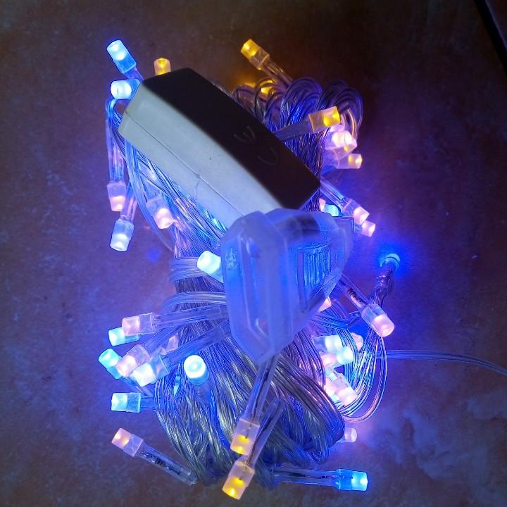 Новогодняя светодиодная гирлянда 100LED 8м сине-желтый