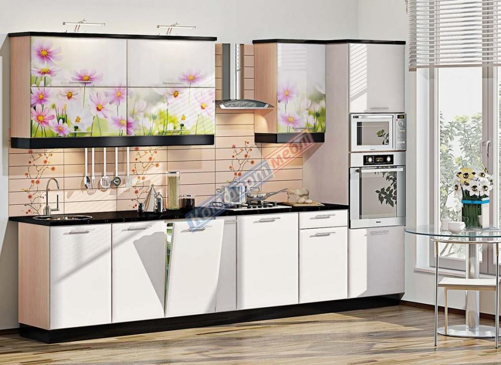Кухня Хай-тек КХ- цветная печать