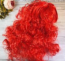 Парик красный волнистые волосы