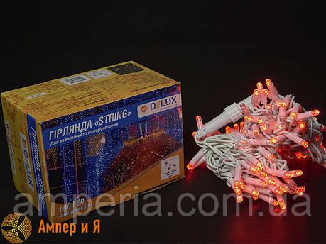 Гирлянда внешняя STRING 100 LED 10m (2x5m) 20 flash красный/белый IP44 EN DELUX, фото 2