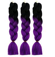 Канекалоновая коса омбре, черный + фиолетовый