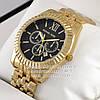 Мужские наручные часы Michael Kors Quartz Gold Black Майкл Корс качественная премиум реплика