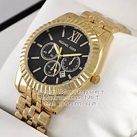 Мужские наручные часы Michael Kors Quartz Gold Black Майкл Корс качественная премиум реплика, фото 1