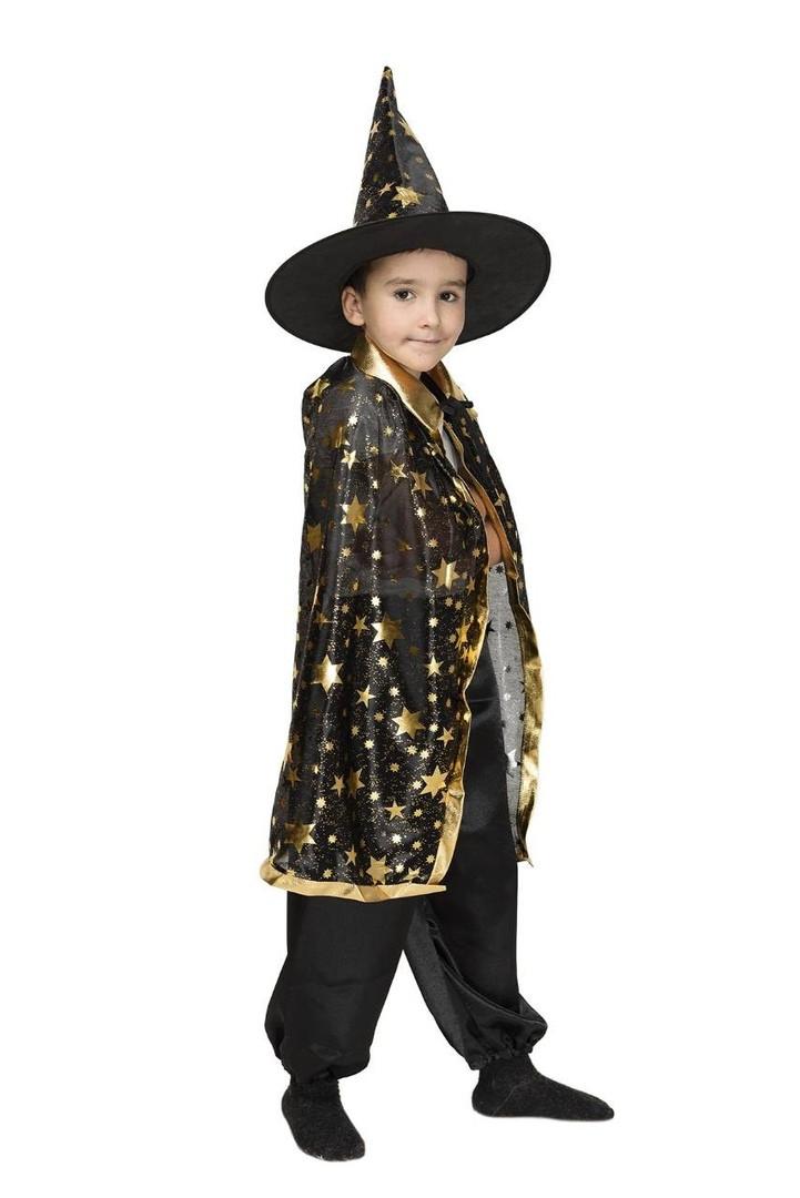 Детский карнавальный маскарадный костюм Звездочет черный рост:110-134 см