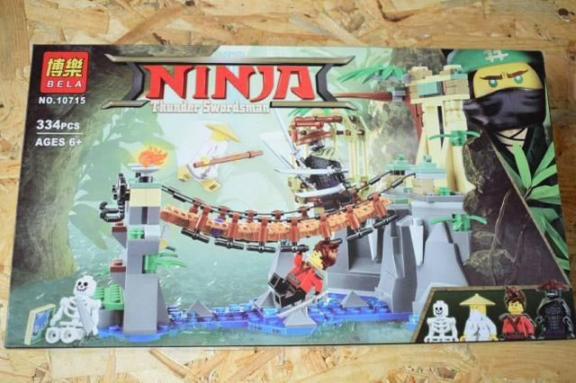 "Конструктор Bela Ninja ""Битва Гармадона и мастера Ву, 334 дет."