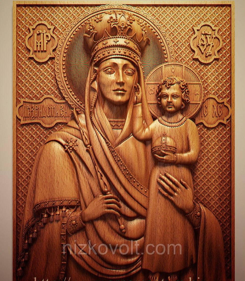 """Церковная утварь - Резная икона из дерева """"Призри на смирение"""""""