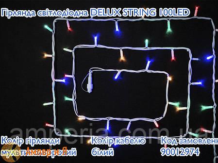 Гирлянда внешняя STRING 100 LED 10m (2x5m) 20 flash мульти/белый IP44 EN DELUX, фото 2