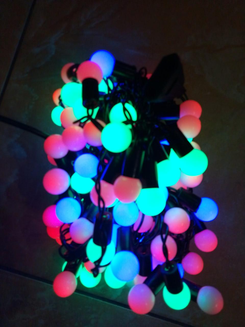 Новогодняя светодиодная УЛИЧНАЯ гирлянда ШТОРА-ДОЖДИК 120LED 3м*0.5м  мультиколор RB/RG