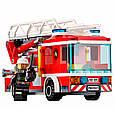 """Конструктор Lepin 02054 """"Пожарный автомобиль с лестницей"""" 239 деталей. Аналог LEGO City 60107, фото 5"""