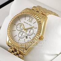 Женские наручные часы Michael Kors Quartz Gold White Майкл Корс качественная люкс реплика, фото 1
