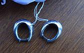 Серебряные серьги - кольца с родиевым покрытием