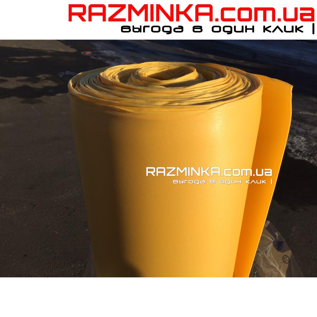 Цветной изолон ППЭ 2мм, желтый