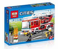 """Конструктор Lepin 02054 """"Пожарный автомобиль с лестницей"""" 239 деталей. Аналог LEGO City 60107, фото 1"""
