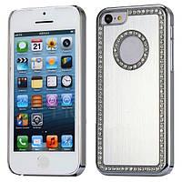 Изящный бампер чехол для смартфона телефона Iphone Айфона 5 5s со стразами