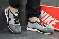 Мужские кроссовки Nike Flyknit Racer Gray