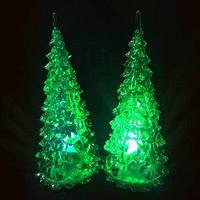 Новогодняя елка зеленая Led-светильник 12 см
