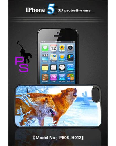 Крутой 3D бампер чехол для смартфона планшета телефона Iphone Айфона 5 5s ВОЛКИ ВОЖАК
