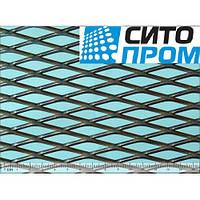 В НАЛИЧИИ! Просечно-вытяжной лист, черная сталь,ромбическая форма ячейки TC MR43/13x2,5x2/1000x2000, Код:02528