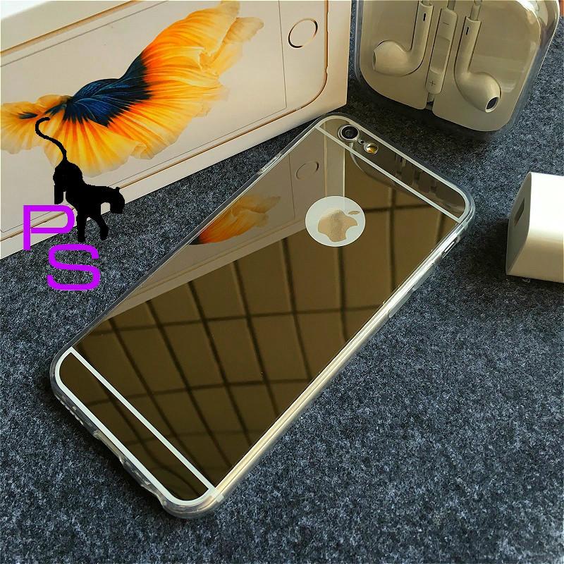 Крутой темный зеркальный бампер чехол для смартфона планшета телефона Iphone Айфона 7 7s