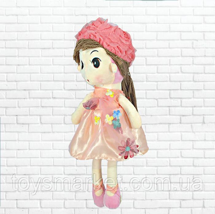 Игрушка кукла Ангелина розовая