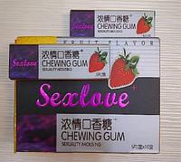 Возбуждающие жвачки для девушек и женщин Sexlove+ (10 пачек по 5 пластинок)