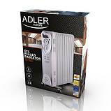 Масляний обігрівач Adler AD 7809 11 секцій, фото 3