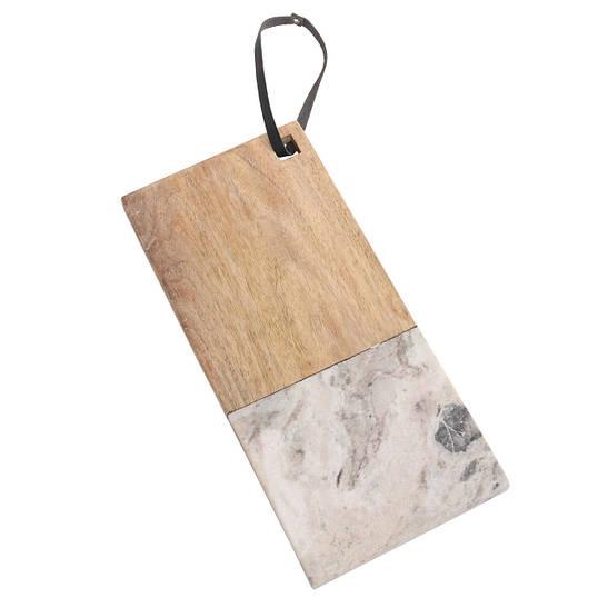 Доска для сыра PTMD BRASE Wood & beige marble M 677956-PT