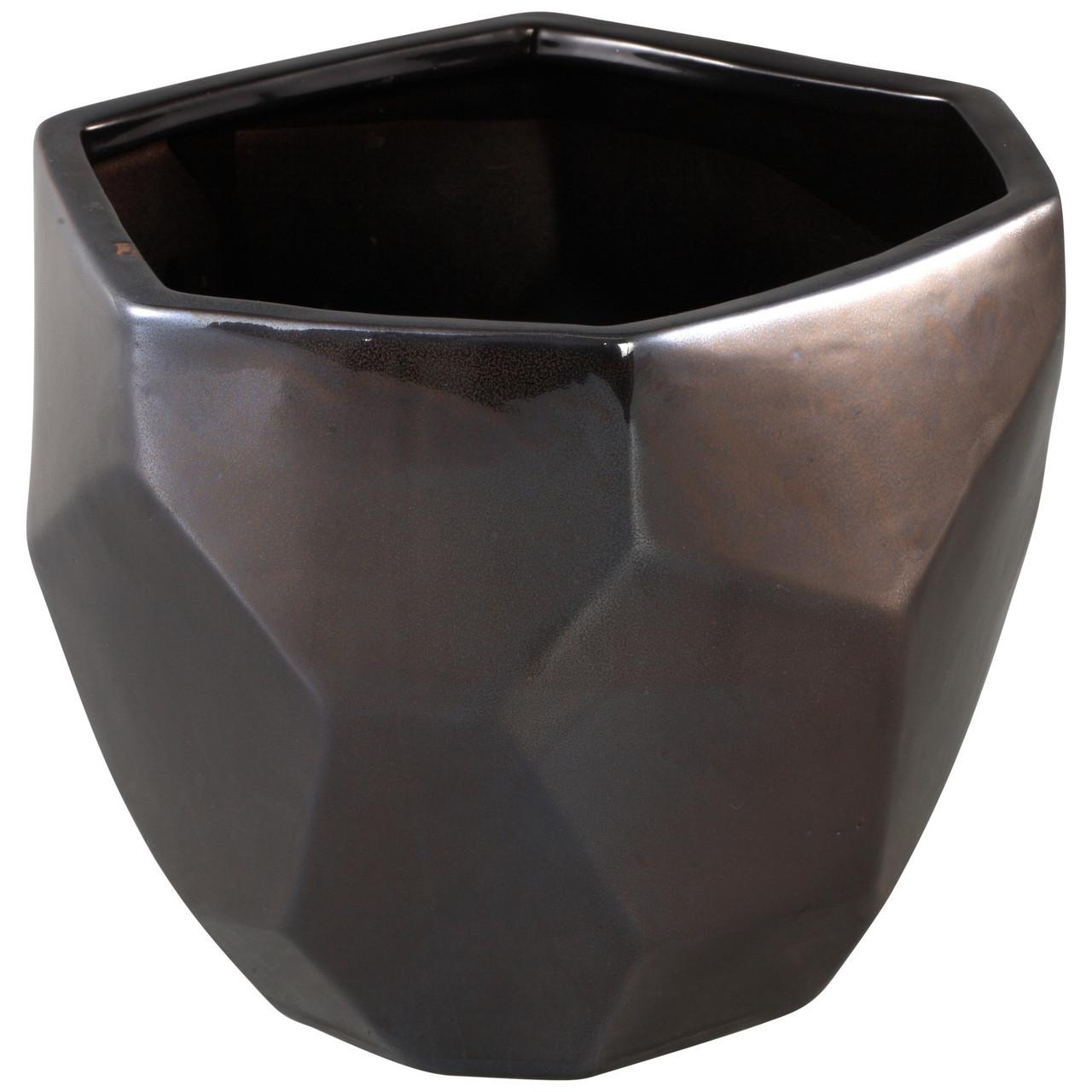 Кашпо PTMD DAVIS Pot  l silver_nordic_shape 672248-PT