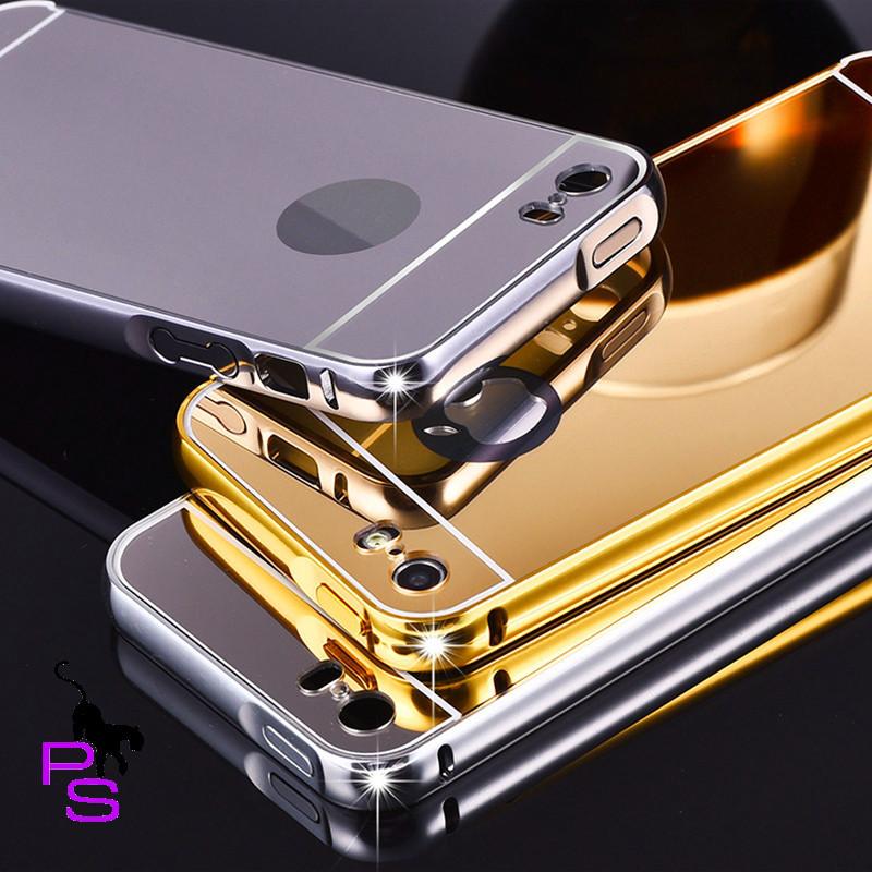 Крутой темный зеркальный бампер чехол для смартфона телефона Iphone Айфона 7 7s